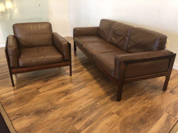 Komfort Leather Sofa & Chair Set – $2695