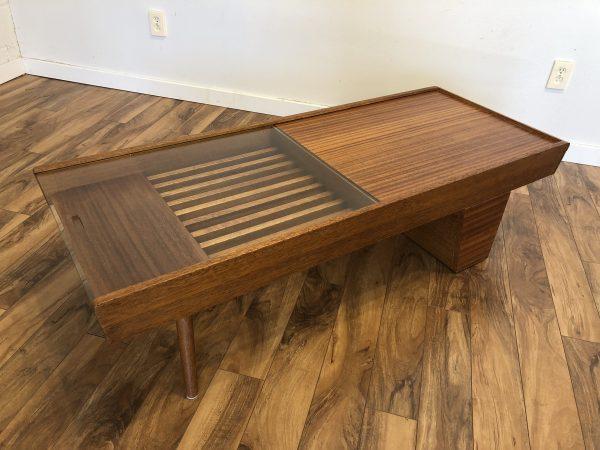 Brown Saltman Coffee Table / Bar – $1595