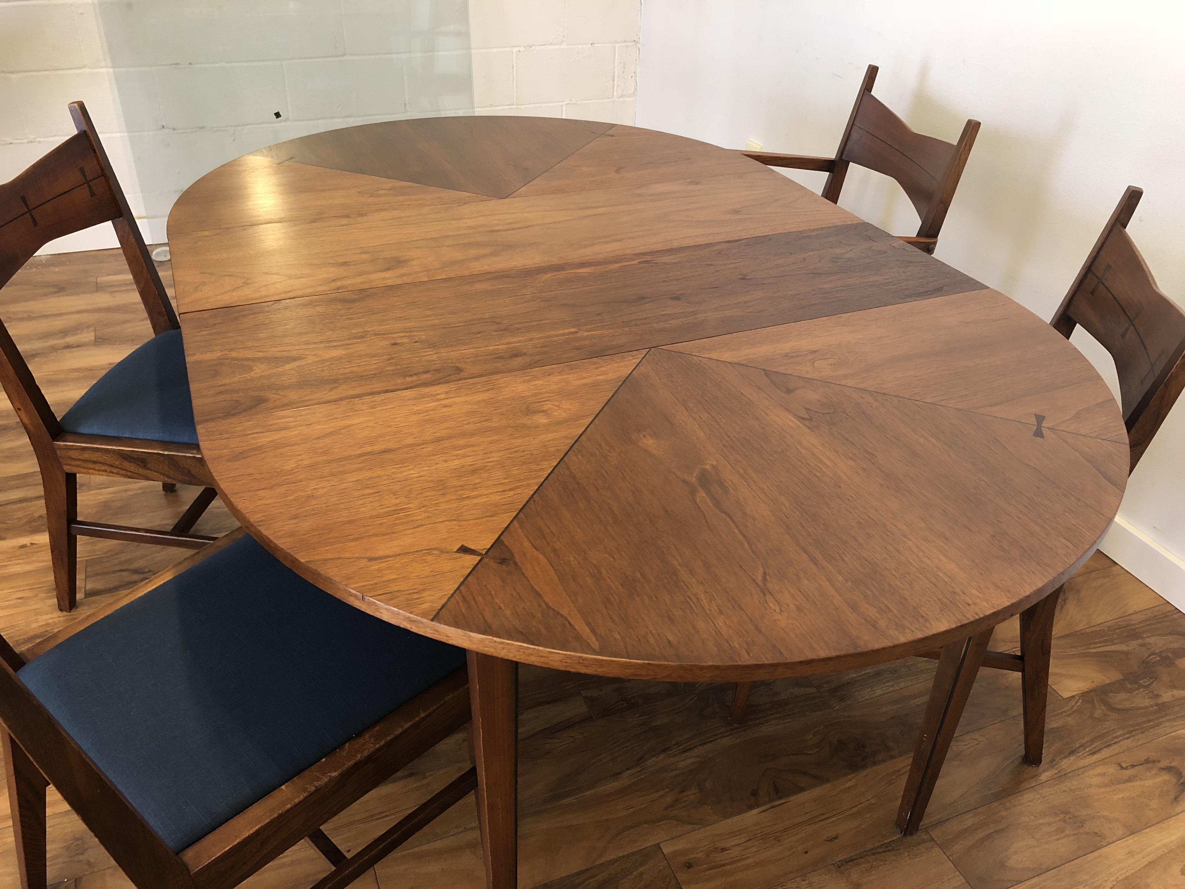 SOLD Lane Tuxedo Mid Century Dining Set Modern To Vintage