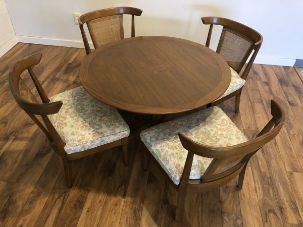 Vintage Mid Century Game Table & Chairs – $995