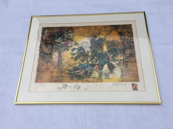 Lebadang Abstract Lithograph – $400