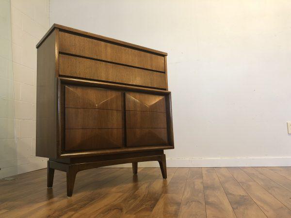 United Furniture Mid Century Highboy Dresser – $875