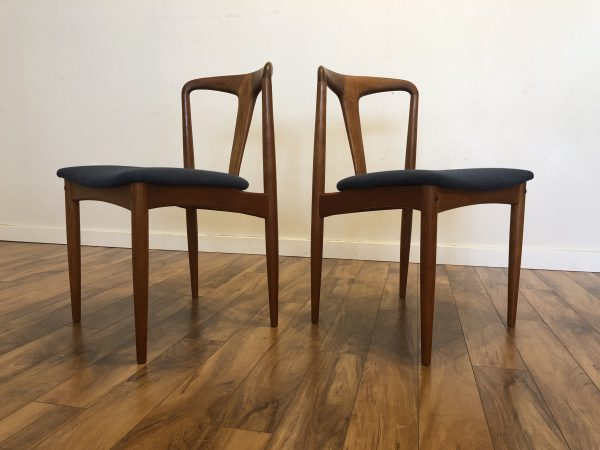 SOLD – Johannes Andersen Julianne Dining Chairs, Pair