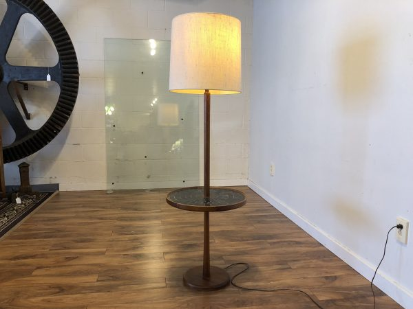 SOLD – Martz Floor Lamp with Tile Table