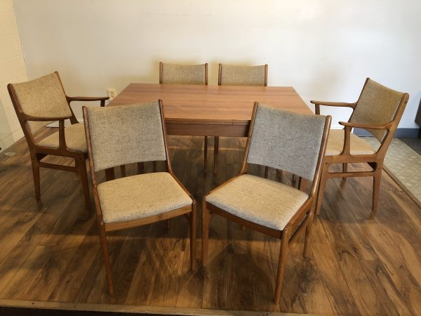 SOLD – Danish Teak Dining Table & 6 Chairs