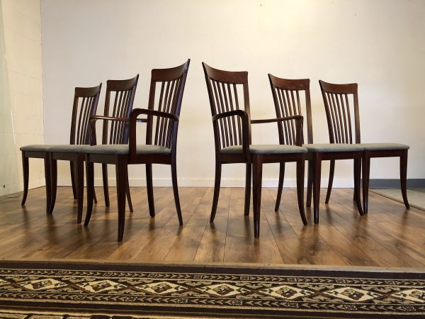 SOLD – A. Sibau Italian Dining Chairs, Set of 6