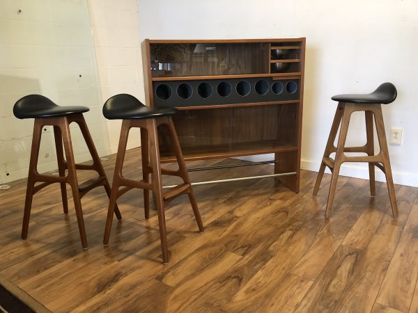 Erik Buch Teak Bar with 3 Stools – $3495