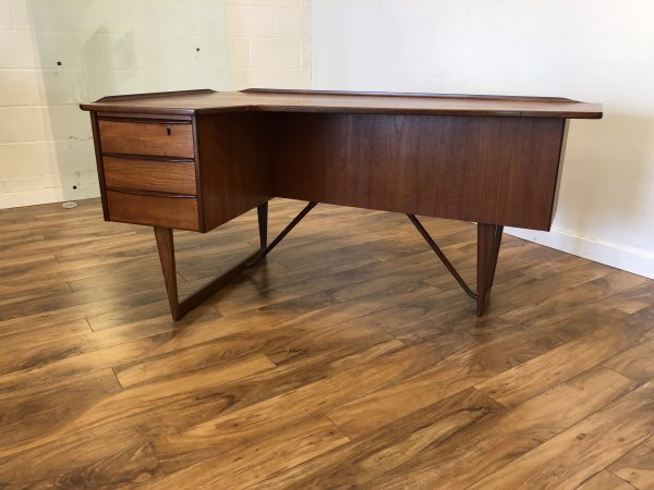Peter Lovig Nielsen Teak Boomerang Desk – $3295