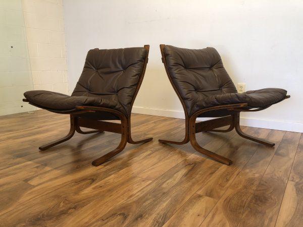 SOLD – Westnofa Leather Siesta Chairs, Pair