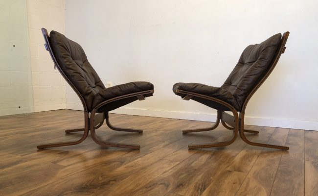 Incredible Sold Westnofa Leather Siesta Chairs Pair Modern To Vintage Gmtry Best Dining Table And Chair Ideas Images Gmtryco