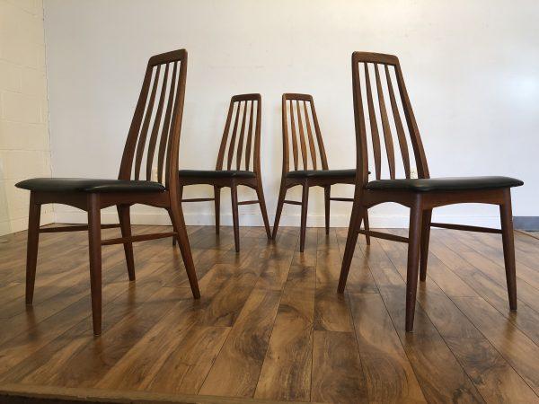 Vintage Koefoeds Hornslet Dining Chairs, Set of 4 – $1350