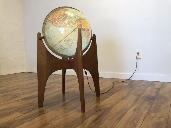Adrian Pearsall Globe Stand with Illuminated Globe – $975