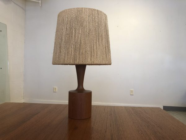 Fog & Morup Danish Teak Jute Lamp – $250