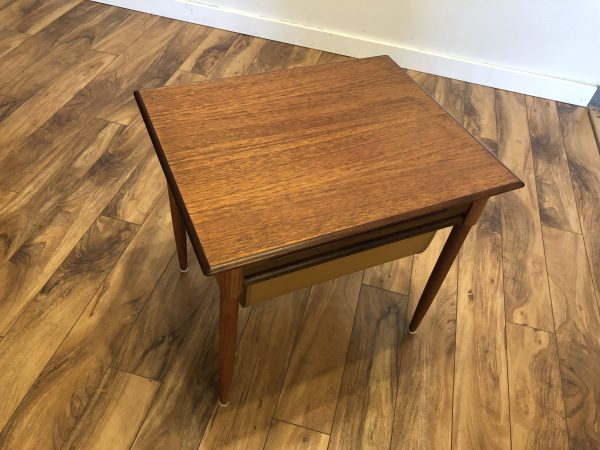 Danish Modern Teak Sewing Table – $240