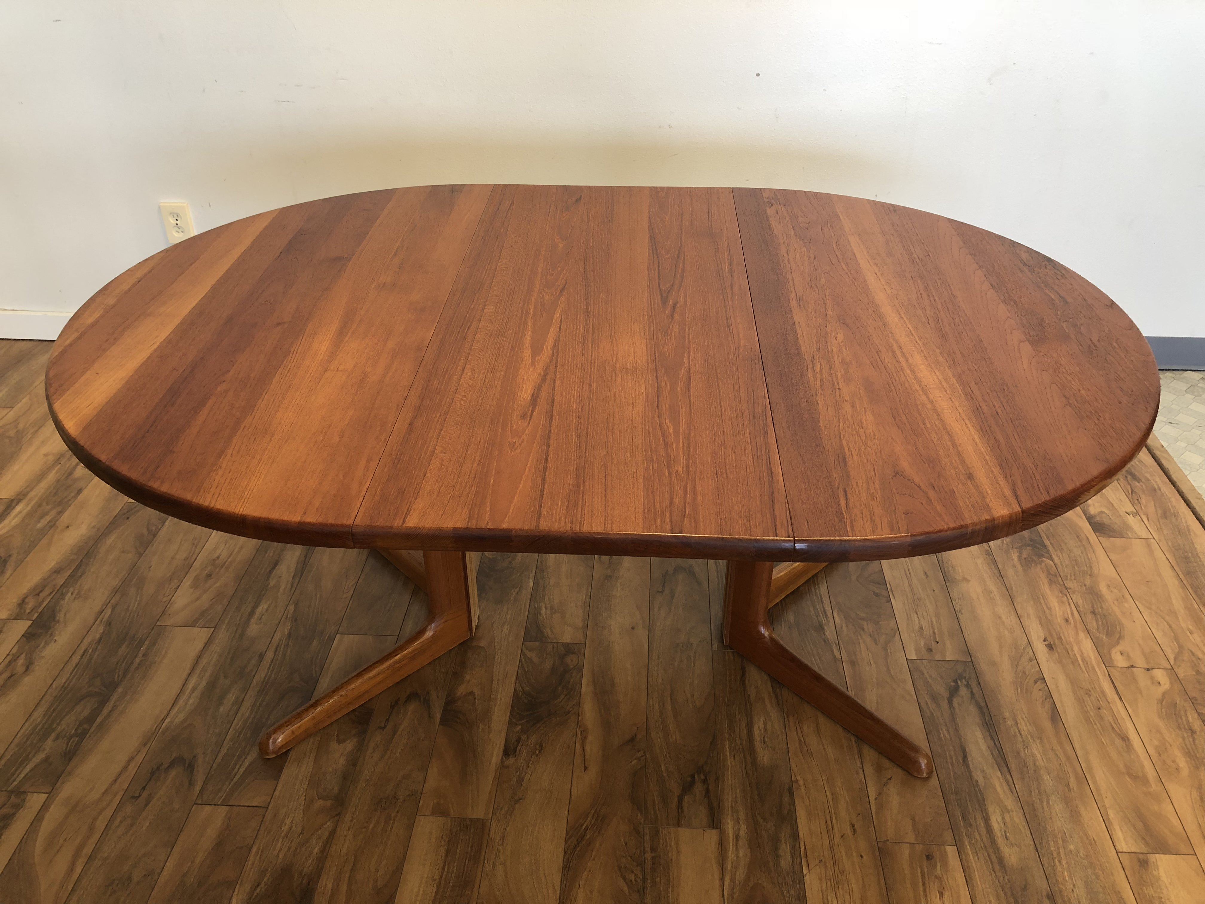 Sold Teak Expandable Dining Table Amp 6 Chairs Modern To
