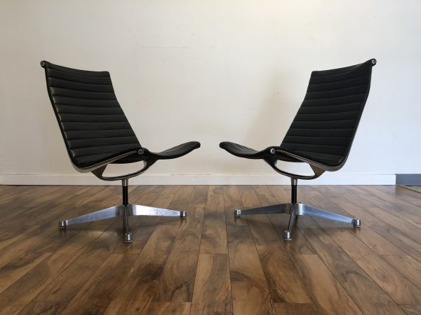 Eames Aluminum Group Lounge Chairs, Pair – $1695