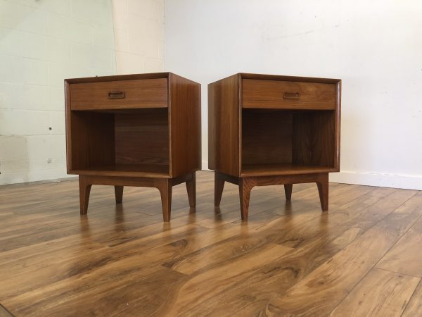 Mid Century Pair of Nightstands – $775