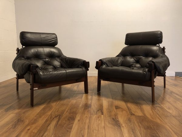 Percival Lafer Tufted Leather Lounge Chair Pair – $5500
