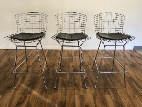 Knoll Bertoia Bar Stools, Set of 3 – $1800