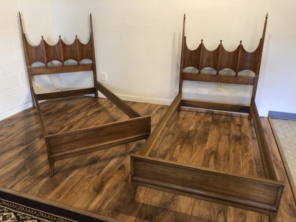 Pair of Hollywood Regency Twin Bed Frames – $1200