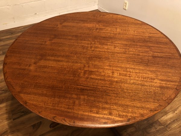 SOLD – Dyrlund Danish Teak Expandable Dining Table