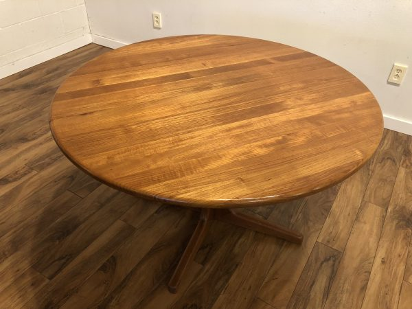 SOLD – Solid Teak Expandable Dining Table