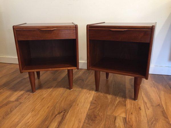 SOLD – Danish Rosewood Vintage Nightstand Pair