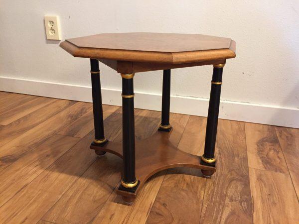 Baker Furniture Burl Octagon Side Table – $195