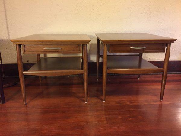 Pair Large Mid Century Nightstands – $350