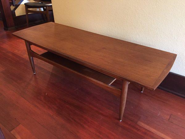 SOLD – Vintage Mid Century Walnut Coffee Table