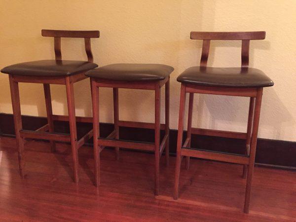 Korup Bar Stools, Set of 3 – $600