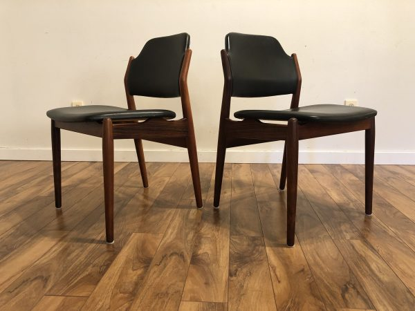 Arne Vodder Rosewood Dining Chairs, Pair – $1295