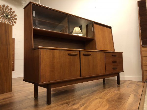 Teak Vintage Highboard Buffet – $1250
