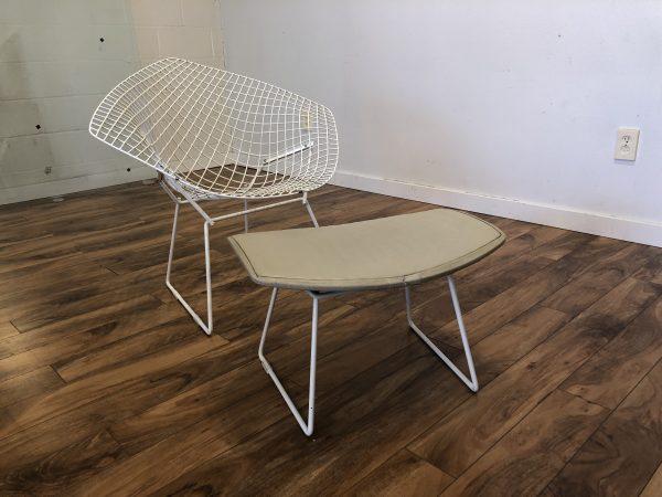 Vintage Knoll Bertoia Diamond Chair & Ottoman – $950
