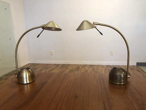 Oricina Vintage Brass Lamp Pair – $295