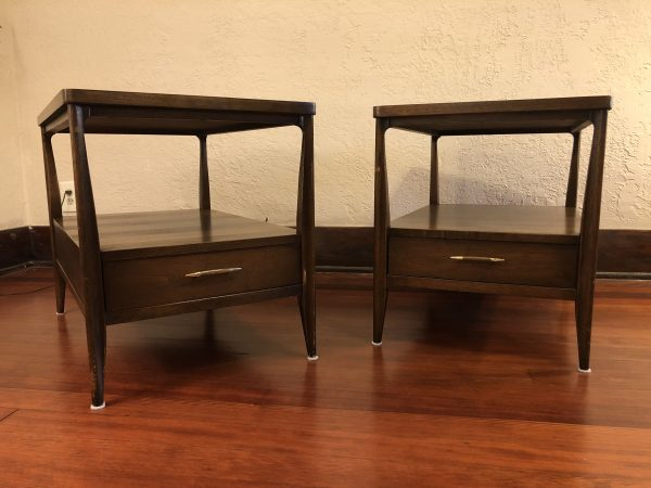 Pair of Broyhill Mid Century Walnut End Tables – $650