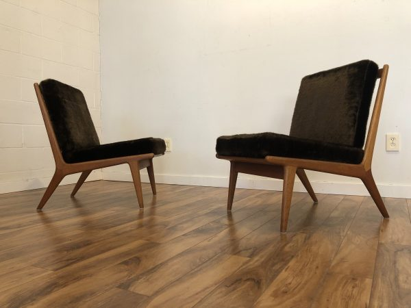 JO Carlsson Teak Slipper Chairs Pair – $1995