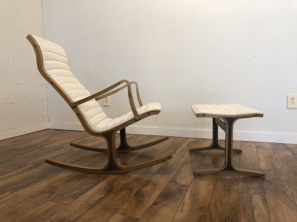 Tendo Mokko Heron Rocking Chair & Ottoman – $1595