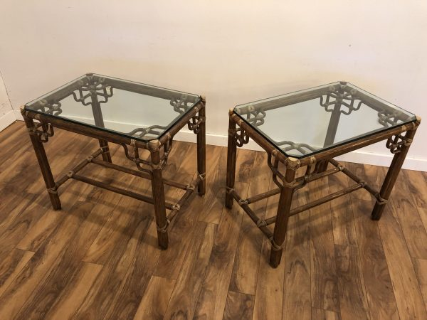 McGuire Marview Side Tables Pair – $990