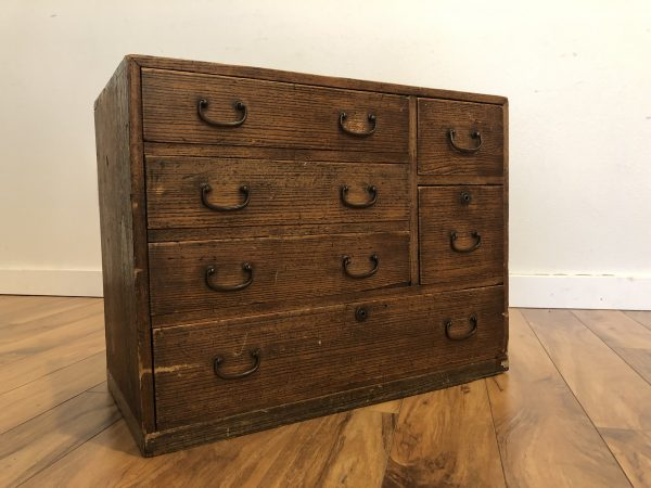 Japanese Small Antique Tansu Chest – $450