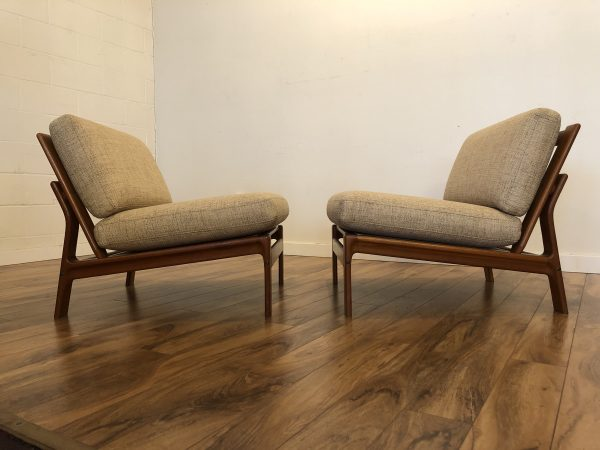 Komfort Danish Teak Slipper Chairs Pair – $1995