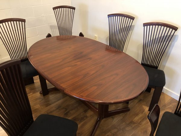 Rosewood Dining Table & Chairs – $2495