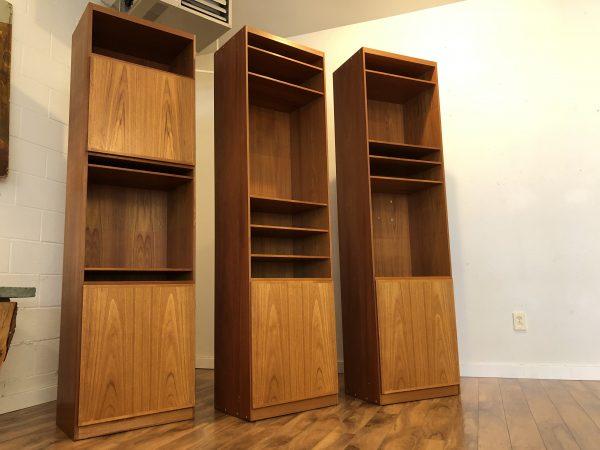 Teak Bookshelf / Cabinets – $375 each