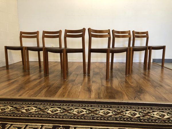 JL Moller Teak Dining Chairs, Set of 6 – $1295