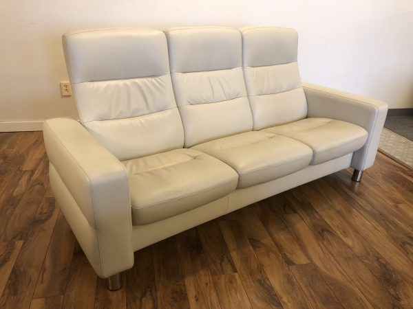 SOLD – Ekornes Stressless Wave Reclining Sofa