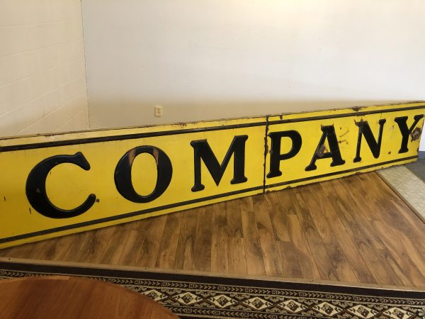 Large Vintage Porcelain Sign – $2500