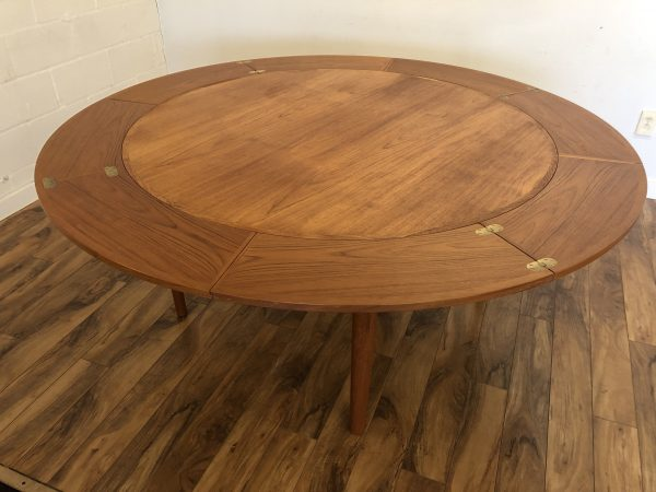 Dyrlund Lotus Expandable Teak Dining Table – $2495
