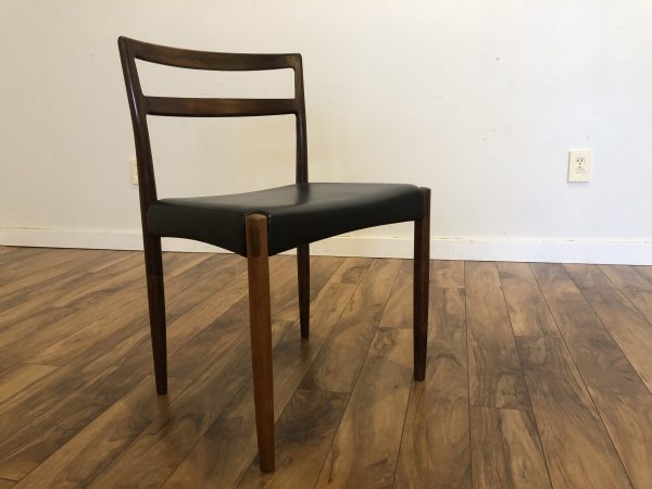 Rosewood Mid Century Desk / Dining Chair – $225