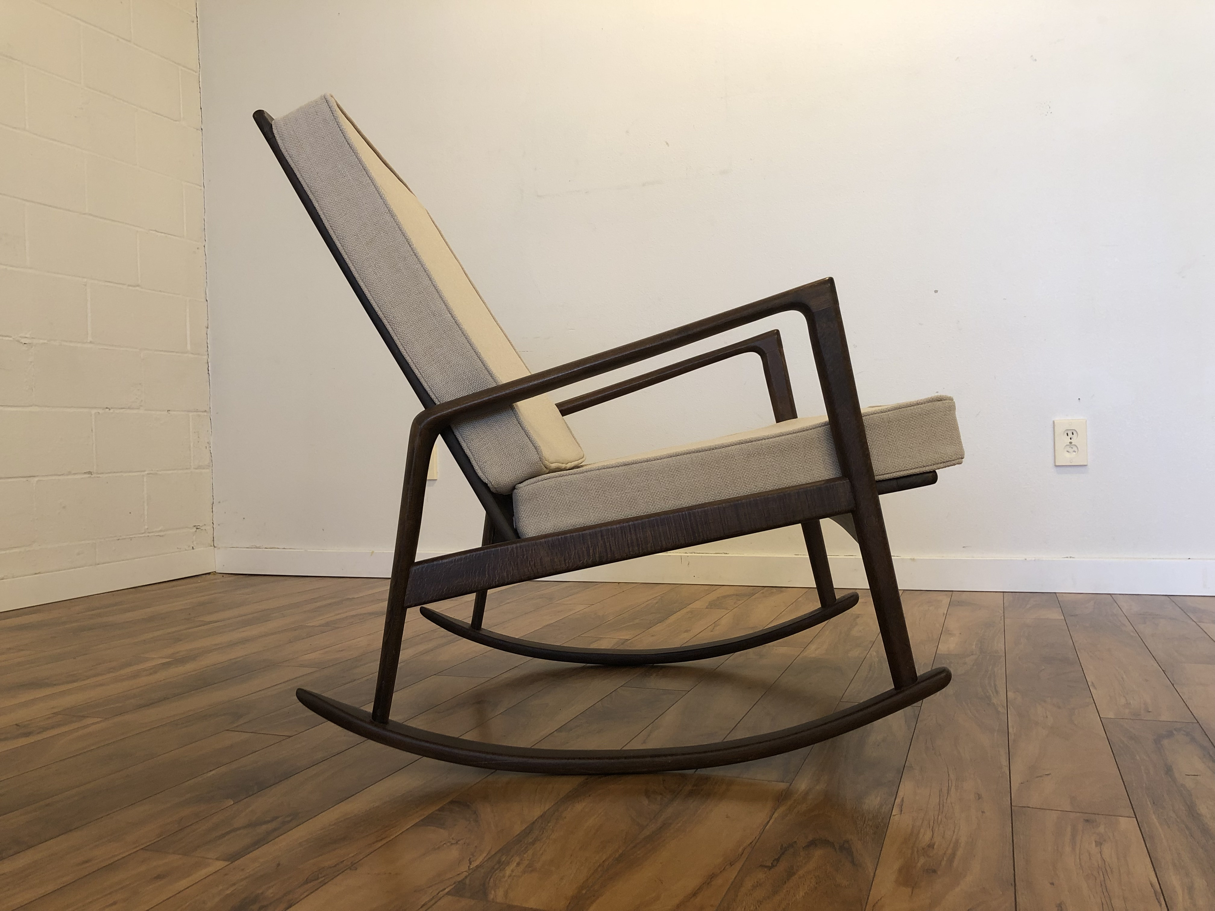 Outstanding Sold Italian Mid Century Rocking Chair Modern To Vintage Gmtry Best Dining Table And Chair Ideas Images Gmtryco