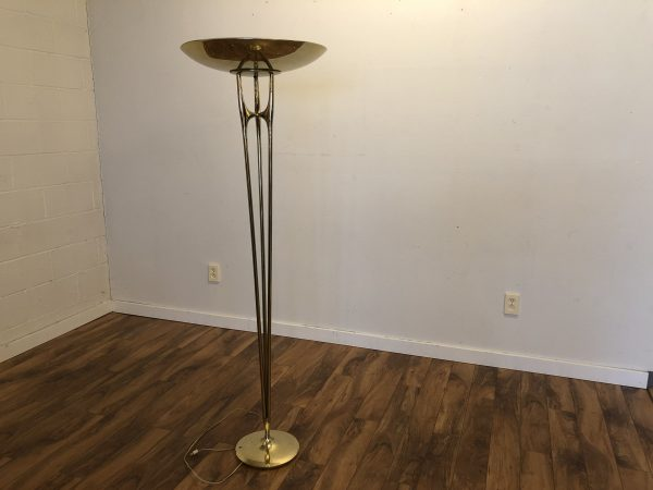 Mid Century Brass Floor Lamp – $750